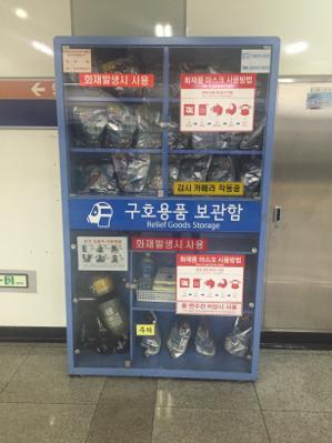 Masques à gaz dans le métro corréen